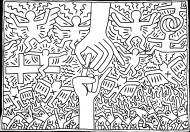 Maseczka Keith Haring