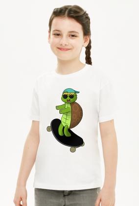 """Koszulka dziewczęca """"Zolf na deskorolce"""""""
