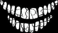 Maska popękane zęby