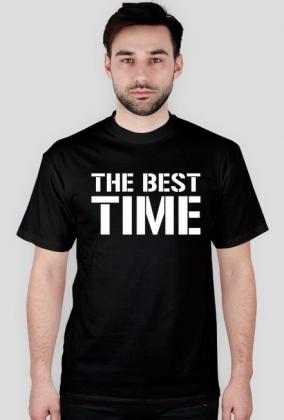 Koszulka t-shirt męski z nadrukiem The Best Time