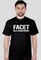 Koszulka t-shirt męski z nadrukiem Facet dla koneserek