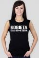 Koszulka Tank Top Loose Fit z nadrukiem Kobieta dla konesera