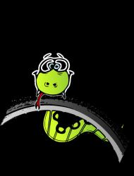 Grupowa koszulka dla rowerzystki '' w plenerze na rowerze''
