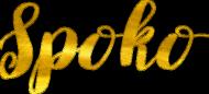 Spoko - czapeczka z daszkiem ze złotym nadrukiem