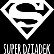 Super Dziadek - czarna bluza z białym nadrukiem dla dziadka