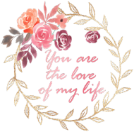 You are the love of my live - kubek na Walentynki