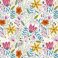 Maseczka kolorowa z kwiatami - kwiaty - maska wymienne filtry