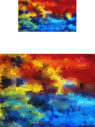 Kolorowy komin z nadrukiem - farby