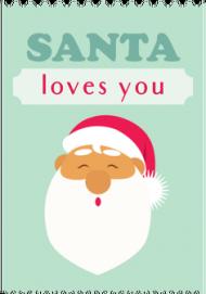 Santa loves you - świąteczny kubek z nadrukiem Mikołaj