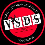VSDS dziecięca koszulka treningowa czerwone logo