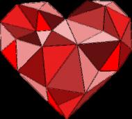 Serce geometryczne małe