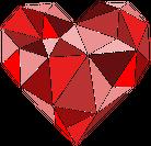 Serce geometryczne mini (dekolt w serek)