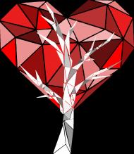 Koszulka drzewo sercowe (dekolt w serek)