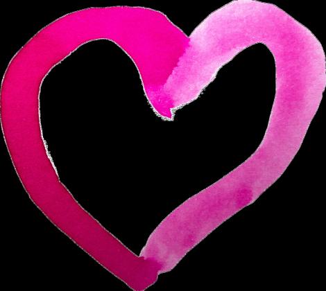 Koszulka serce akwarelowe duże
