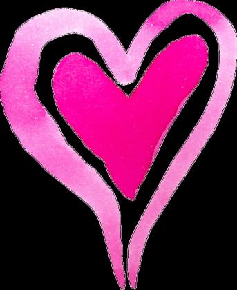 Koszulka serce akwarelowe małe (dekolt w serek)