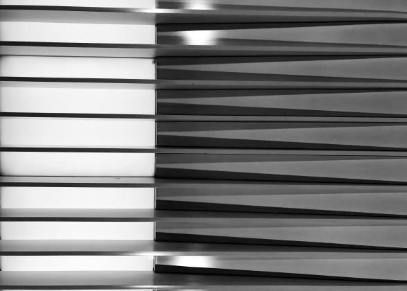 GEOMETRY czarne-białe - plakat A1