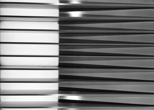 GEOMETRY czarne-białe - plakat A2