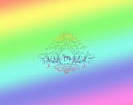 WOREK FULLPRINT TĘCZOWY Z KONIEM - Rainbow Dressage Horse ©DH