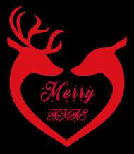 Wesołych Świąt Renifery V-Neck