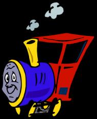 """Kubek z kolorowym uchem """"Wesoła lokomotywa"""""""