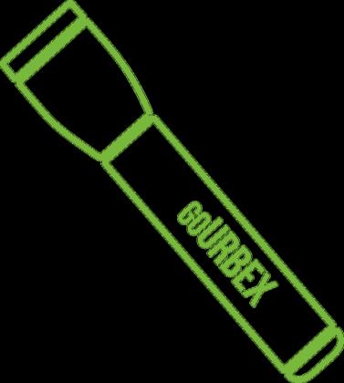 Zielona latarka - kontur