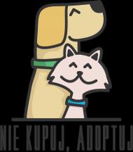 Nie kupuj, adoptuj / męski t-shirt / jasny