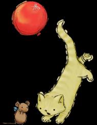 Poszewka na poduszkę z kotkiem i myszką