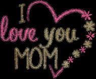 Kubek na dzień matki - I love you mom z różowym uchem