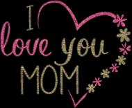 Kubek z uchwytem serce - I love you mom