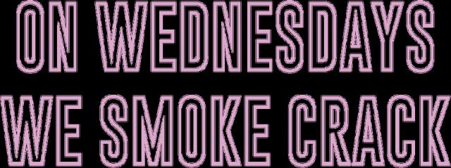 ON WEDNESDAYS WE SMOKE CRACK