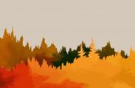 lniana maseczka jesienny las