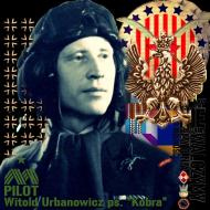 """Koszulka męska """"Dywizjon 303 - gen. bryg. pil. d-ca dyw. 303 Witold Urbanowicz"""" zielona"""