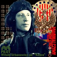 """Koszulka damska """"Dywizjon 303 - gen. bryg. pil. d-ca dyw. 303 Witold Urbanowicz"""" niebieska"""