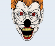 "Maseczka kolorowa ""Horror face"""
