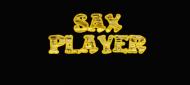 Maseczka lniana Sax Player