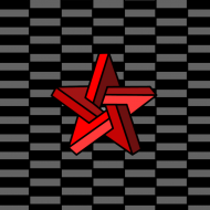 maseczka kolorowa z wzorem gwiazda