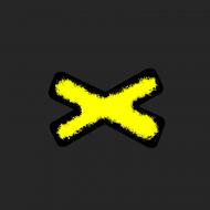 maseczka kolorowa z wzorem x