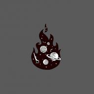 maseczka kolorowa z wzorem ogień