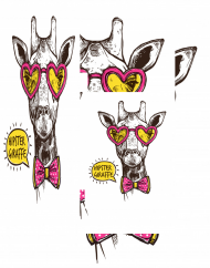 maseczka kolorowa ze wzorem żyrafa