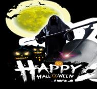 Maseczka FullPrint Happy Halloween 002