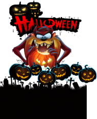 Koszulka męska FullPrint Happy Halloween 003