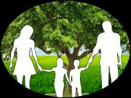 Miś maskotka z Logo Stowarzyszenia Działkowców