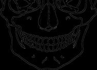 Maska szkielet