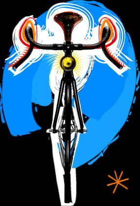 Bike Art T White Girl