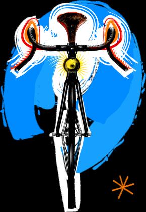 Bike Art T Dark Girl