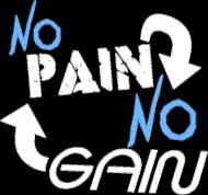 """Koszulka na siłownie Męska """"No Pain No Gain"""" 2 Kolory do wyboru, Nadruk Biały."""