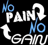 """Koszula na siłownie Męska """"No Pain No Gain"""" 3 Kolory do wyboru, Nadruk Biały."""