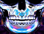 "Maseczka z Filtrem ""Skull Blue"""