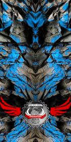 "Komin-Buff ""Angry Stone V1"" Niebieski"