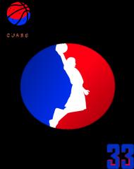 Basketball player RED_BLUE podkładka